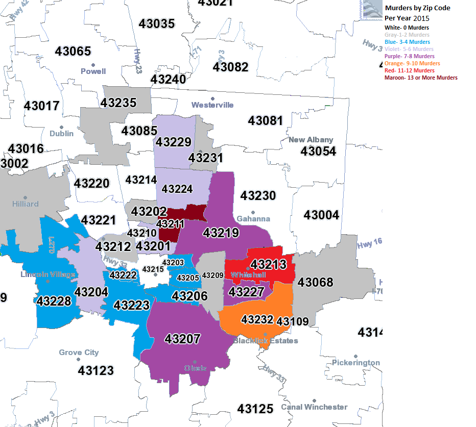 Columbus Oh Zip Code Map Zip Code Map Columbus Ohio